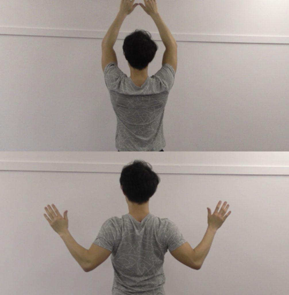 背中、ウィンギング、背中引き締め、ダイエット、肩こり解消、背中スッキリ、可動域向上、柔軟性向上、宅トレ、自宅トレーニング、楽トレ、簡単トレーニング、効果的、トレーニング効果的